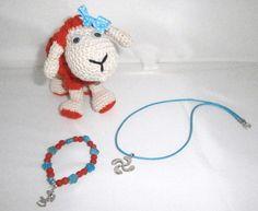 set oveja:peluche ovejita, pulsera y lau-buru