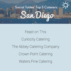 Congrats to Feast on This one, of our advertisers, for making this! Top 5 San Diego Caterers