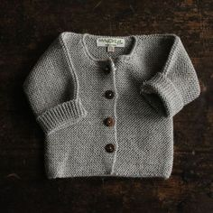 Love these simple garter stitch cardis.