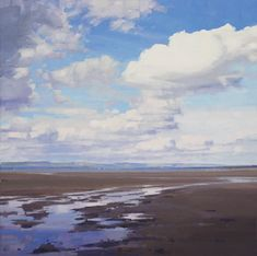 An artist in Troon, Ayrshire, Scotland. Paints landscapes and seascapes, from woodlands to shorelines. Interested in the influence of the sky, and its changing mood and atmosphere. Thumbnail gallery of his paintings. Paintings I Love, Seascape Paintings, Landscape Paintings, Beach Scenes, Watercolour, Scotland, Contemporary Art, Landscaping, Coast