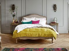 Modern bedroom furniture stores across the UK. Our contemporary ranges are stylish and comfortable. Shop for your new bedroom today at Feather & Black. Room Ideas Bedroom, Home Decor Bedroom, Living Room Decor, Master Bedroom, Bed Room, Master Suite, Grey Bedroom With Pop Of Color, Modern Bedroom Furniture, Aesthetic Room Decor