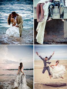 La sesión de fotos de vestidos de novia trash the dress puede ser realizada en…