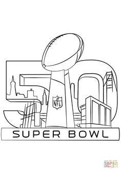 47 Best Super Bowl Trophy Coloring Pages Images In 2017
