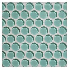 """Complete Tile Collection Glass Expressions Mosaic - Aqua Green Medium - Clear, 3/4"""" Penny Round Glass Mosaic, MI#: 039-G2-267-655, Color: Aqua Green Medium"""