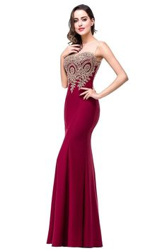 Babyonline® Women's Lace Applique Long Formal Mermaid Evening Prom Dresses -- Click on the image for additional details. (This is an affiliate link and I receive a commission for the sales)