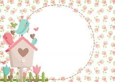 Baby Painting, Painting For Kids, Fabric Painting, Vintage Flowers Wallpaper, Bird Clipart, Blank Sign, Baby Girl Baptism, Bird Party, Enchanted Garden