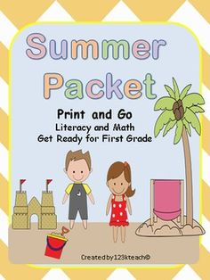 Get your students practicing their skills all summer long and be prepared for first grade with this pack of literacy and math skills.
