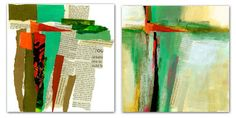 Jane Davies  collage journeys: Compositional Studies - Cruciform Series