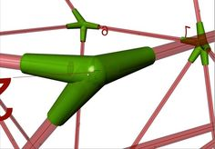 PolygonPrototyping by FrankS. Grasshopper/Rhino tool to create a construction system based on beams and connectors.