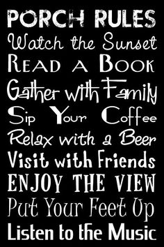 Must do for the back porch!!