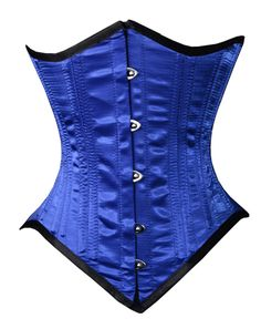 beccfe7971ab5 26 Double Steel Boned Dramatic Points Underbust Waist Training Corset Blue Waist  Training Corset