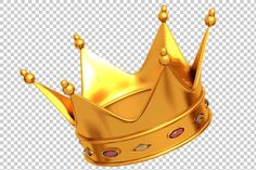 Check out Golden Crown - Render PNG by TrueMitra Designs on Creative Market