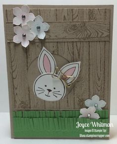 Friends and Flowers Easter Bunny by Cookielady01 - Cards and Paper Crafts at Splitcoaststampers