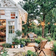 Backyard Greenhouse, Greenhouse Plans, Window Greenhouse, Dream Garden, Home And Garden, Garden Oasis, Porches, Outdoor Spaces, Outdoor Living