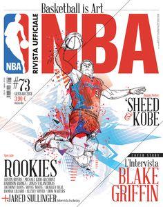 Rivista NBA / Covers 2012-13 by Francesco Poroli in NBA: Stunning Digital Art