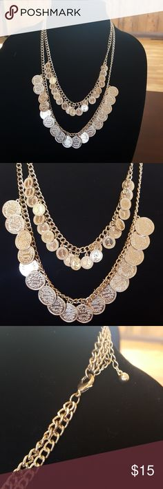 Vintage Faux Coin Gold Tone Necklace Vintage Faux Coin Gold Tone Necklace Vintage Jewelry Necklaces