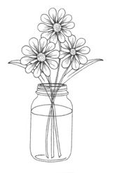 Mason X 3 A smaller more simple version of the Punch-In®. Use the Medium Daisy small Daisy and the mini Flower Punch for the centers,Super Simple Stamp Designs,Make An Impression Hand Embroidery Flowers, Embroidery Patterns, Mason Jar Crafts, Mason Jars, Quilling, Mason Jar Flowers, Tangle Art, Girl Thinking, Flower Doodles