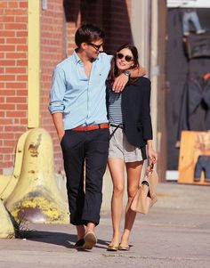 So Stylish Couple - Olivia Palermo & Johannes Huebl Preppy Mode, Preppy Style, Her Style, Style Blog, Stylish Couple, Stylish Men, Espadrilles Men, Johannes Huebl, Estilo Olivia Palermo