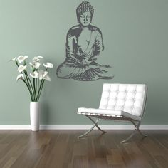 Wall Decal Buddha Silhouette India Asian Spiritual Awakened One Dorm Decor by WallStarGraphics on Etsy