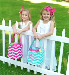 Personalized Easter Basket Totes