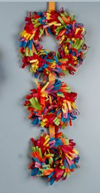 Colorful Tissue Wreaths; can be made for any season of the year; announcing new born babies. just use your imagination.