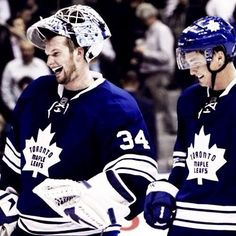 James Reimer and Tyler Bozak • Toronto Maple Leafs #Hockey #Maple_Leafs @N17DG