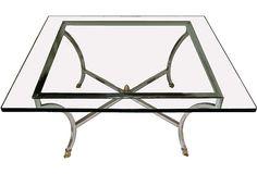 Best Coffee Table ever.  Midcentury Glass: OneKingsLane.com