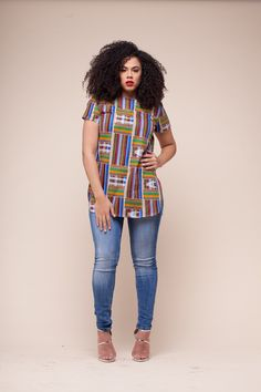 39 Stunning Kente Styles Mixed With Lace Attires For African American Women African Inspired Fashion, African Print Fashion, Fashion Prints, African Print Dresses, African Fashion Dresses, African Dress, African Prints, Ankara Tops, Ankara Blouse