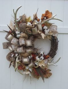 Hey, I found this really awesome Etsy listing at https://www.etsy.com/listing/386166698/autumn-wreath-hunters-wreath