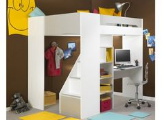 Lit mezzanine blanc design