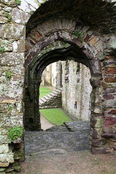 Bishop's Palace, St. Davids, Wales - Great Hall Porch