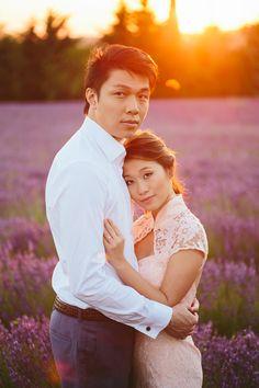 Engagement, shoot, lavender, field, provence, france, rose, asian, asiatique, couple, pre-wedding, destination, photography, photos, love, romance, europe, romantic, holiday, wedding