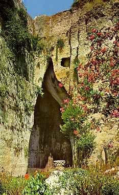 Orecchio di Dionisio, Siracusa, Sicilia, Italia.