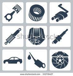 Vector car parts icons set by Alexandr III, via Shutterstock