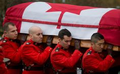 RCMP Funeral, mind you they serve and fall in action too, they are no joke. I Am Canadian, National Police, O Canada, Military Police, Thin Blue Lines, World History, Law Enforcement, Funeral, Catholic