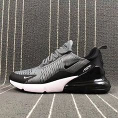 newest 75395 10edf Latest style Nike Air Max 270 Flyknit Grey Black Men s Training Basketball  Shoes