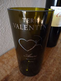 OOaK Terra Valentine Amore Wine Bottle Glass by ConversationGlass, $18.00