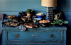 buffet_food spread party teal peacock blue_jonny valiant_apostrophe