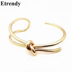 Wholesale-Simple Handmade New Fashion Open Bracelet Adjustable Trendy Jewelry Gold Plated Cuff Bracelets & Bangles For Women Rock Bijoux