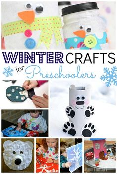 A whole array of Winter Crafts just for Preschoolers! A perfect way to spend a cold winter afternoon!