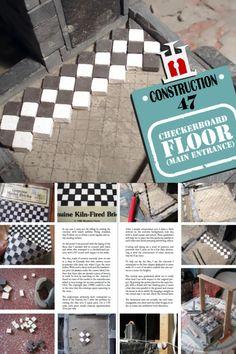 Checkerboard Floor, Construction Materials, Main Entrance, Brick, Miniatures, Flooring, Stone, Wood, Projects