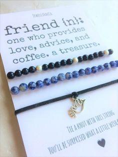 Best Friend Definition Wish Bracelet Dove Charm by JewelliraeCo