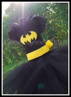 IM BATGIRL Batman Inpsired Tutu Dress.