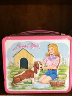 Junior Miss Metal Lunch Box with Thermos 1970s