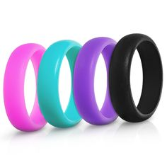 Silicone Wedding Rings For Women - 4 Pack * For more information, visit now : Weight loss Accessories
