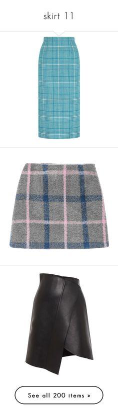 """skirt 11"" by alina-chipchikova ❤ liked on Polyvore featuring skirts, bottoms, юбки, miu miu, pencil skirt, light blue, blue wool skirt, knee length pencil skirt, miu miu skirt and wool skirt"