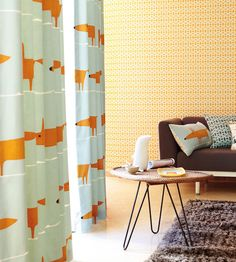 Interior Design Classic, Retro | Mr Fox Fabric by Scion | Jane Clayton