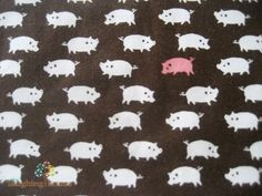 KOKKA JAPANESE Fabric Little Pigs in Dk by laughinghousefabric, $3.75. I've been looking for pig fabrics!