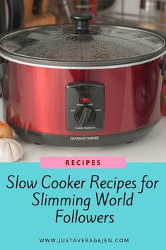 Looking for Slimming World slow cooker recipes? Here are the BEST Tasty Slimming World Slow cooker recipes for you to make for the family. Slow Cooker Slimming World, Slimming World Recipes Syn Free, Slimming World Diet, Slimming Eats, Slimming World Sweets, Slimming World Dinners, Slimming World Breakfast, Slimming World Chicken Recipes, Slow Cooker Recipes Family