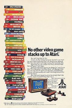 Vintage Atari Poster Art 2 Sided RealSports Football Star Raiders Arcade ManCave